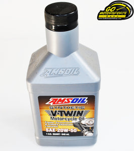 Amsoil 20W-50 Synthetic Motorcycle Oil - GO Motorsports Shop | Legend Car Parts Store