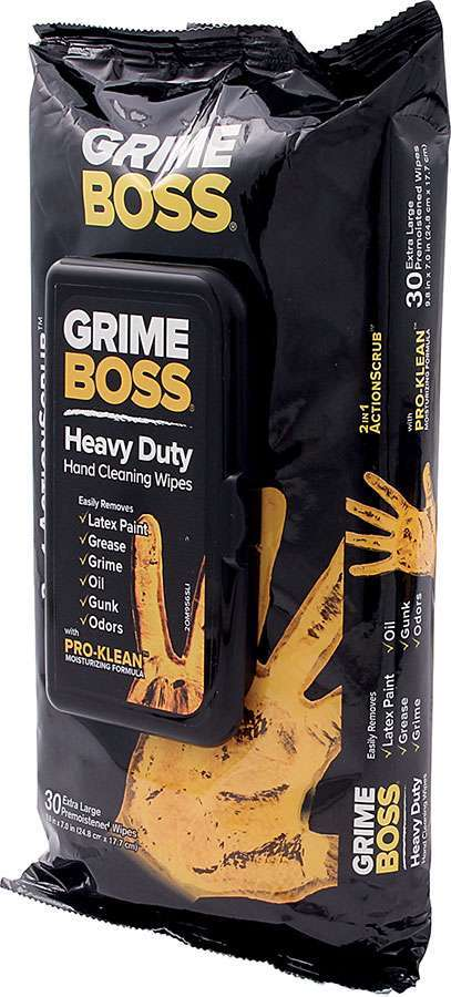Grime Boss Cleaning Wipes (30pk) - GO Motorsports Shop | Legend Car Parts Store