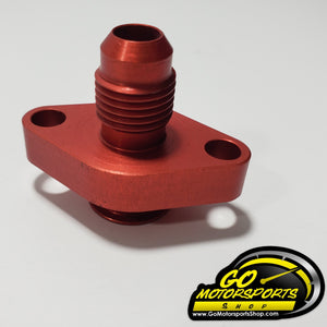 Oil Pan Adapter AN6/Red - GO Motorsports Shop | Legend Car Parts Store