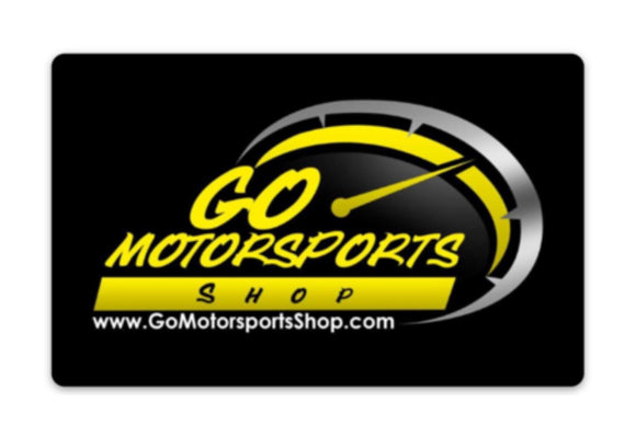 GO Motorsports Shop Rounded Corner Decal - GO Motorsports Shop | Legend Car Parts Store