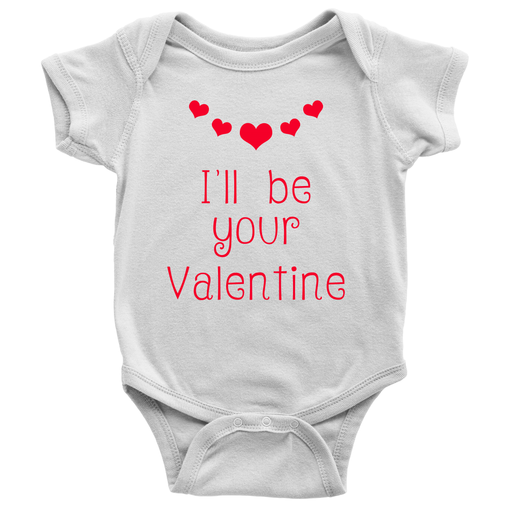 660f0e6cf I'll be your Valentine - Baby Onesie Bodysuit with snaps – Blue Star ...