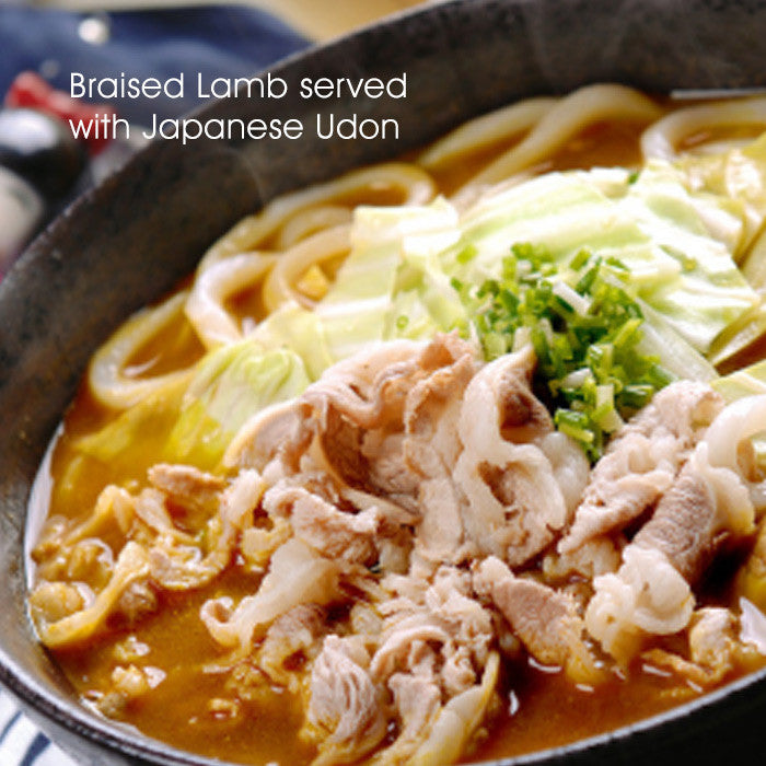 Braised Lamb served with Japanese Udon