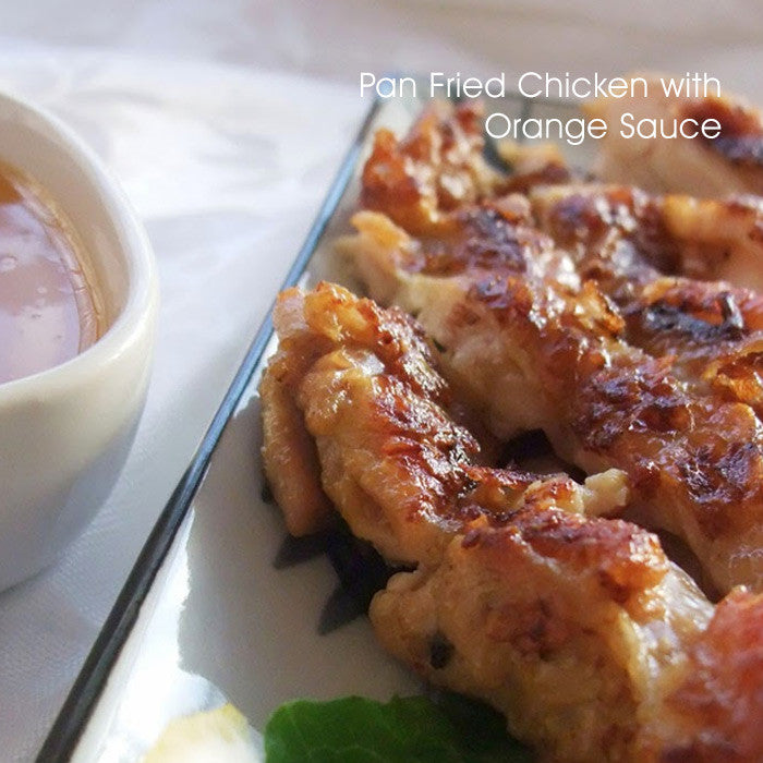 Pan Fried Chicken with Orange Sauce