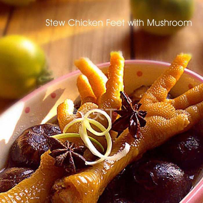 Stew Chicken Feet with Mushroom