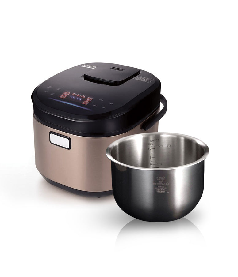 Buffalo IH Stainless Steel Smart Cooker (10 cups)