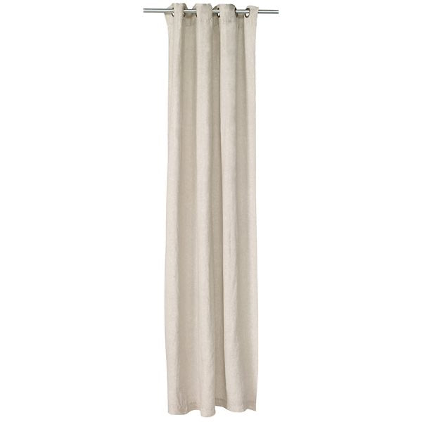 Linen Stone Wash Natural Curtain