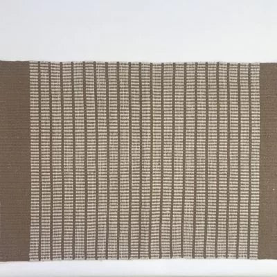 Beige cotton rug.