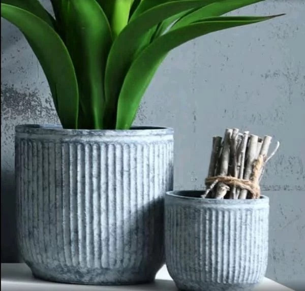 Navy Flower Pots