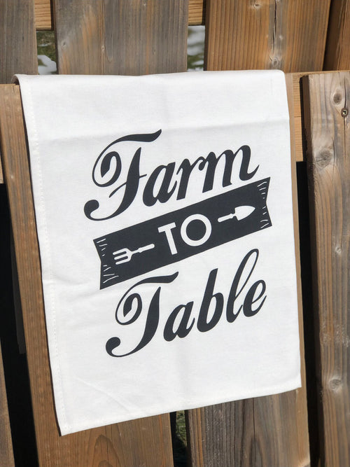 Farm to Table tea towel