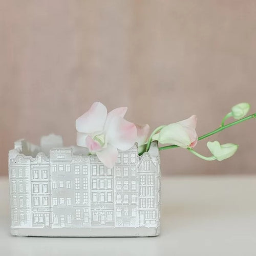 Cement Building Flower Pot