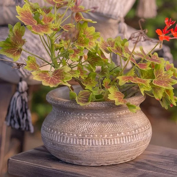 Antique Look Flower Pot