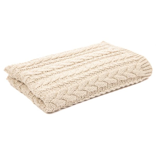 Lolo Cream Knitted Bed Scarf
