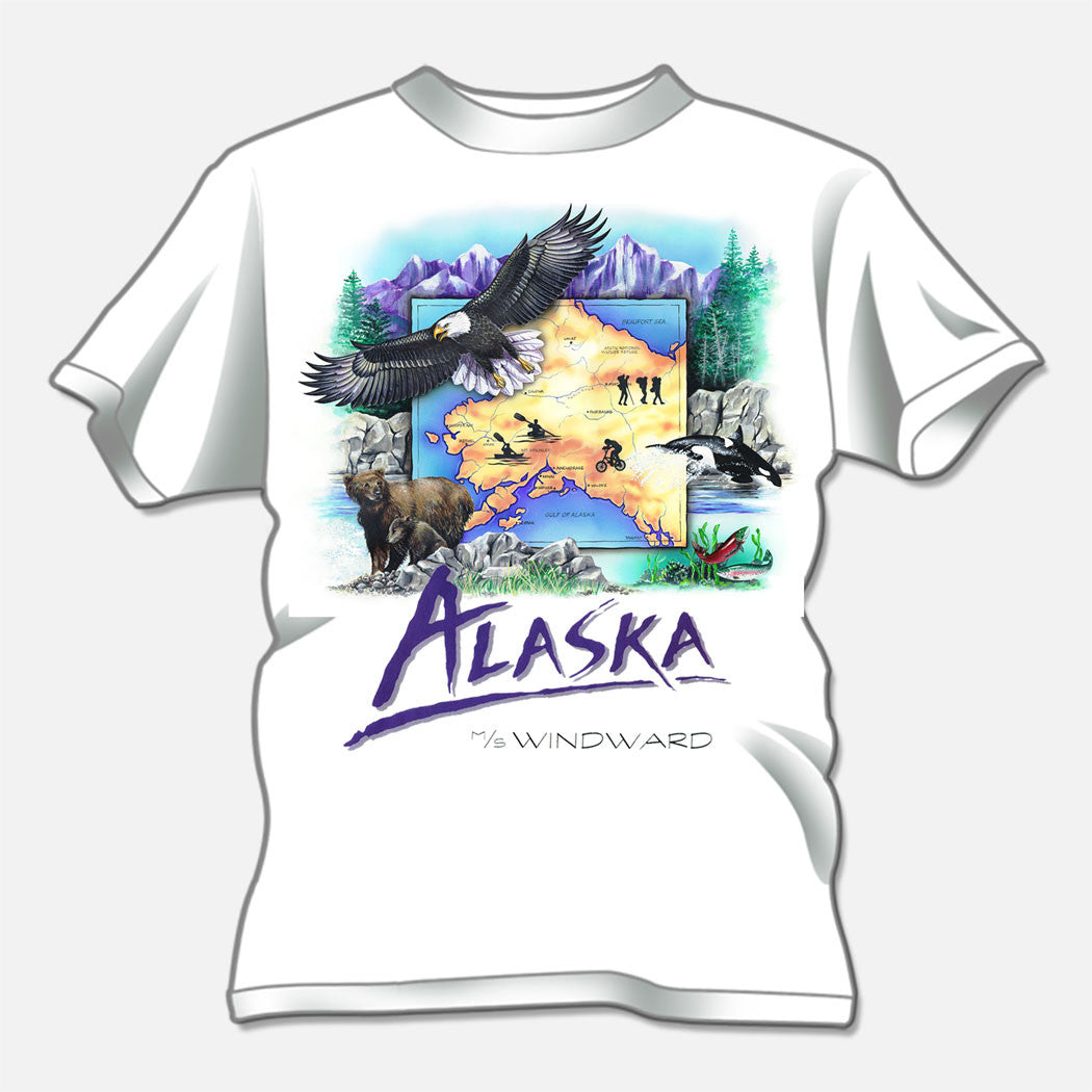 Alaska design created for Norwegian Cruise Lines. The design is of several Alaskan animal species.