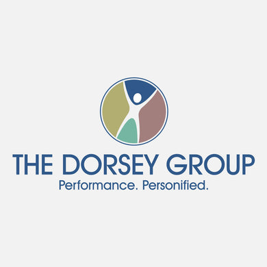 The Dorsey Group inspires people to peak performance – maximizing operational excellence for proven, sustainable business success. The logo is a colorful, fun graphic of a person with their arms raised.