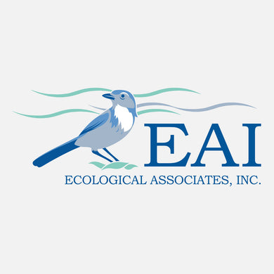 EAI provides environmental monitoring, permitting and consultation services. The logo is a graphic of a Florida scrub jay.