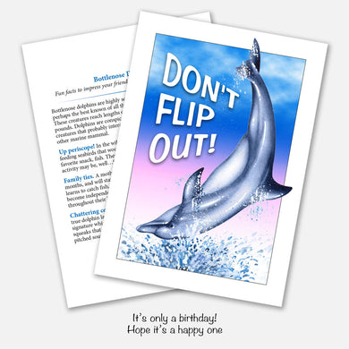 Dolphin Flip Out Birthday Card