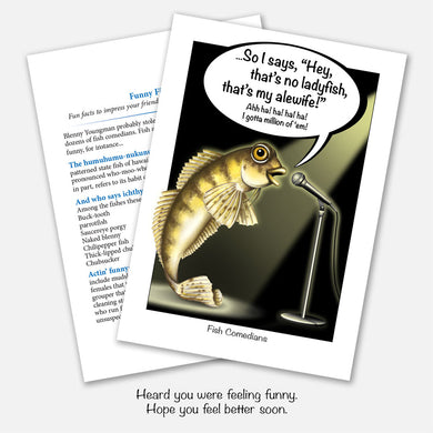 Funny Fishes Get Well Card