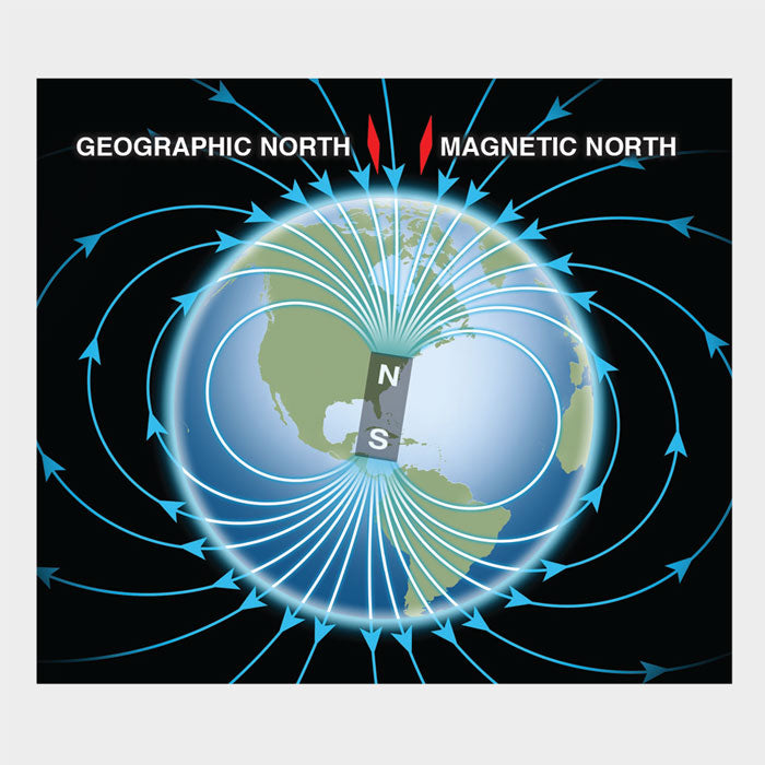 This is a detailed graphic of Earth's magnetic field.