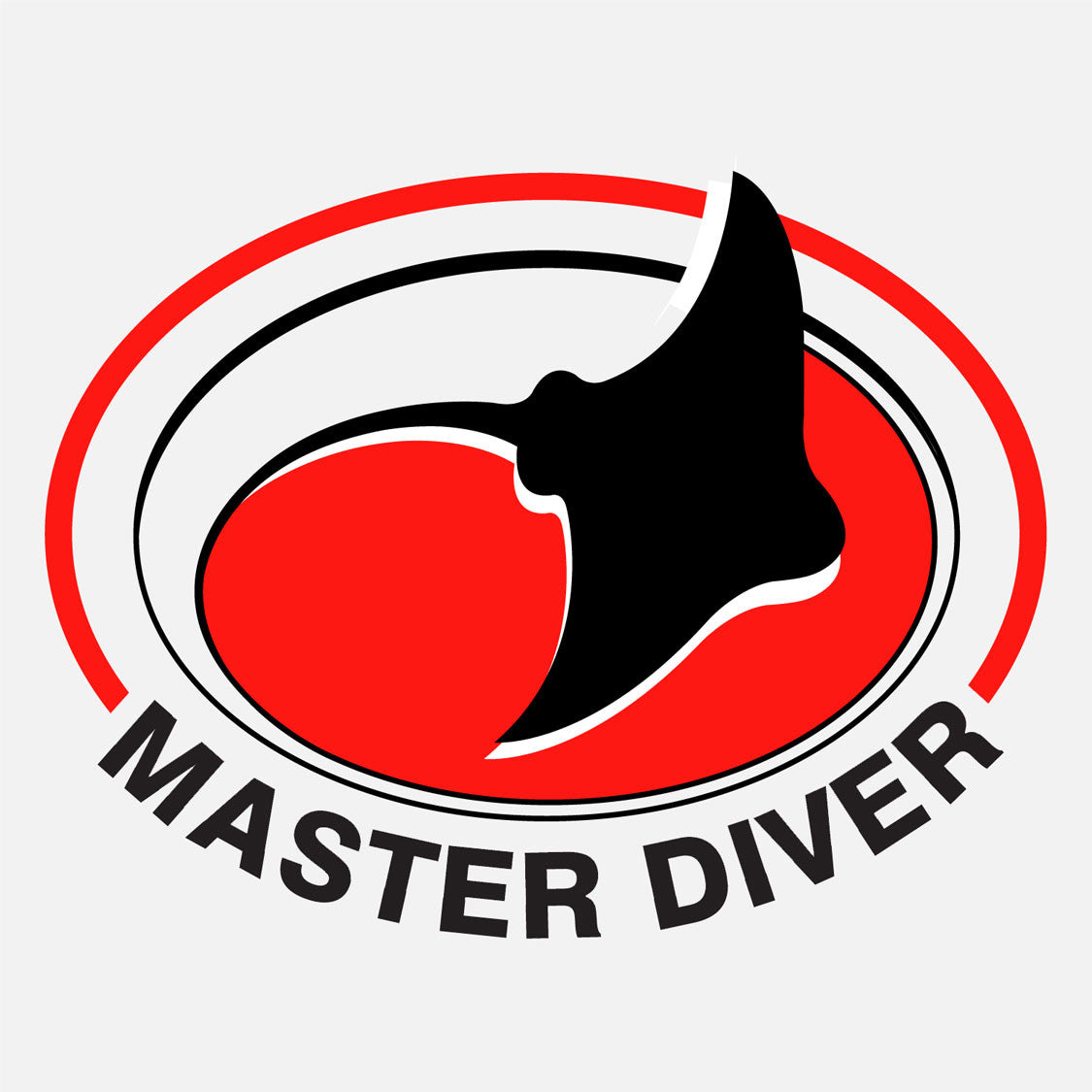 Master diver logo for Water Safety Products, Inc., Indian Harbor Beach, Florida. The logo is a graphic of a stingray in an oval.