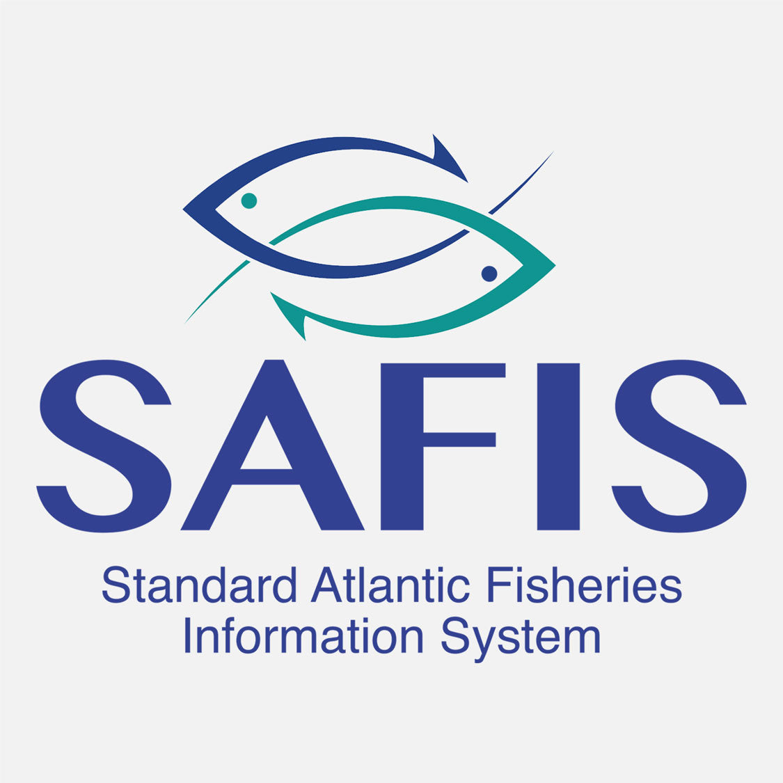 Standard Atlantic Fisheries Information System (SAFIS) allows fishermen to meet the increasing need for real-time commercial landings data. The logo is a graphical depiction of fish hooks.