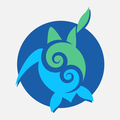 This icon is used for a 5th grade sea turtle curriculum. The intent is to have 5th grade teachers in Florida (and elsewhere) integrate these lessons into their regular curriculum. The icon is a blue and green graphic of a sea turtle.