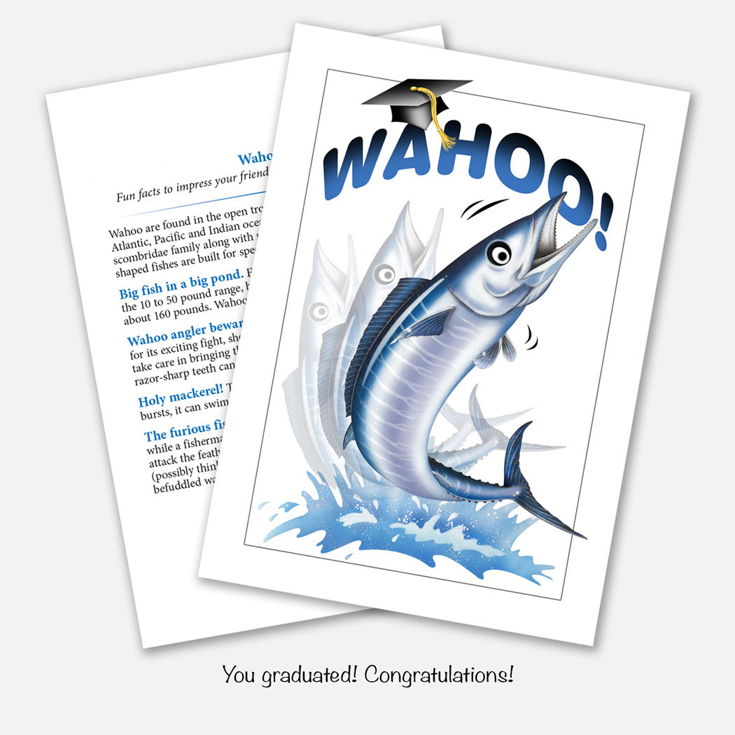 Wahoo Graduation Card