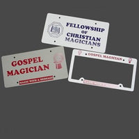 LICENSE PLATE AND FRAMES