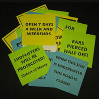 HARVEY BARFENFLOSS SIGN COLLECTION COMEDY