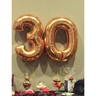 Number 0 in antique gold foil - 90cm - Hello Balloons