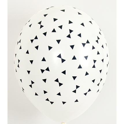 Black bow tie printed latex balloons - NO HELIUM - Hello Balloons