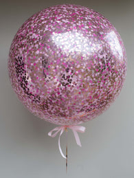 Confetti balloon - pale pink, flamingo, rose gold blend