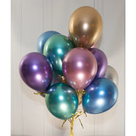 28cm chrome latex balloons - HELIUM NOT INCLUDED - Hello Balloons
