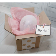 Message in a box balloon - pretty pink  ** EXPRESS POST DELIVERY INCLUDED ** - Hello Balloons