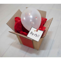 Message in a box balloon - red  ** EXPRESS POST DELIVERY INCLUDED ** - Hello Balloons