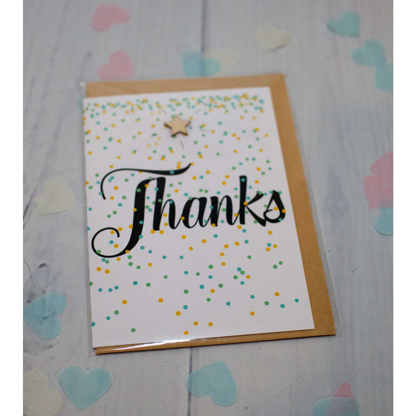 Thanks Greeting Card - Hello Balloons