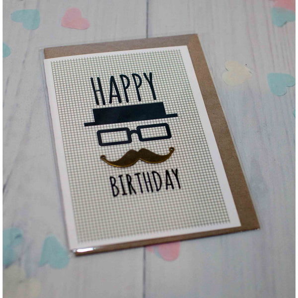 Male Birthday Greeting Card - Hello Balloons