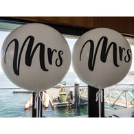 Giant Mrs & Mrs round balloons - NO HELIUM INFLATION - Hello Balloons