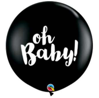 90cm Oh Baby gender reveal balloon (HELIUM NOT INCLUDED) - Hello Balloons