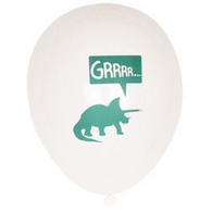 Dinosaur GRR! printed latex balloons - HELIUM NOT INCLUDED - Hello Balloons
