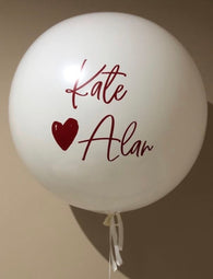 90cm latex balloons - add custom writing