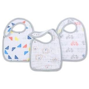 Aden & Anais Leader of the Pack 3 Pack Snap Bibs ** FREE STANDARD DELIVERY ** - Hello Balloons