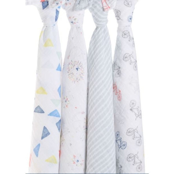 Aden & Anais Leader of the Pack 4 pack Swaddle ** FREE STANDARD DELIVERY ** - Hello Balloons