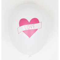 Love Tattoo printed latex balloons - HELIUM NOT INCLUDED - Hello Balloons
