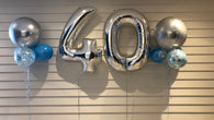 Number balloons in silver foil - 90cm