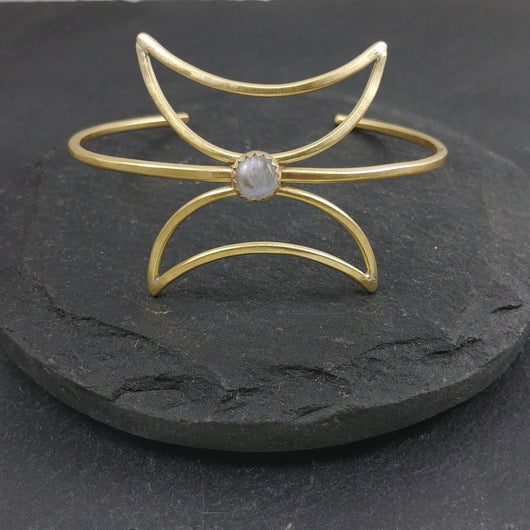 NEW Twin Moon Cuff - Moonstone