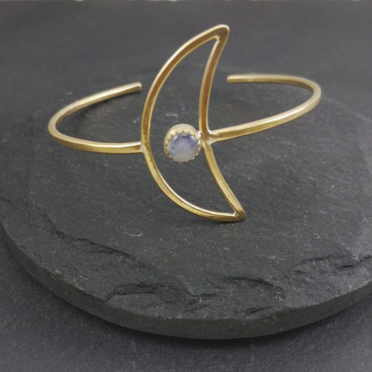 NEW Crescent Cuff - Moonstone