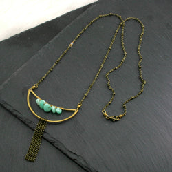 Crescent Necklace - Amazonite