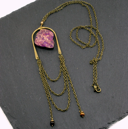Abundance Necklace - Purple
