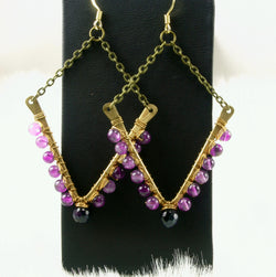 Tara Earrings - Amethyst