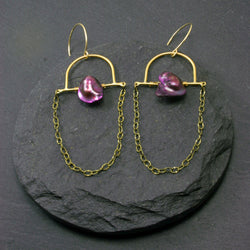 Intuition Earrings - Fuchsia